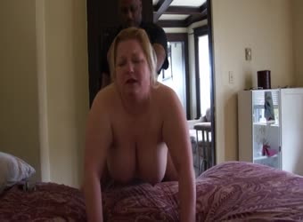 BBW milf getting black dick in her ass