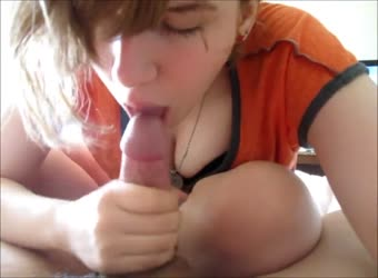 Cum eating teen knows how to suck