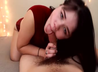 Meaty curvy latina teen sucks and fucks wildly