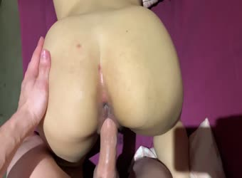 Tight teen pussy getting wet from big dick