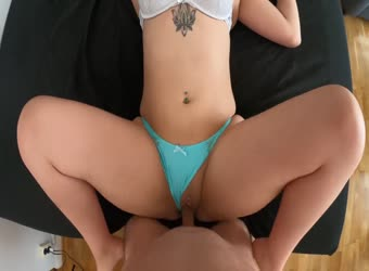 Chubby teen with meaty pussy and thick ass getting drilled
