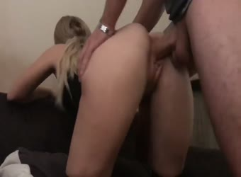 Hot ass teen does anal with creampie