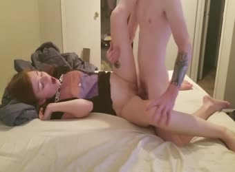 Beautiful redhead teen getting pounded and jizzed with smile