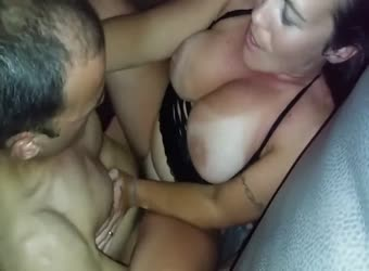 Wife getting fucked by husband's huge cock friend