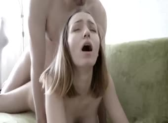Teen couple having passionate romantic sex
