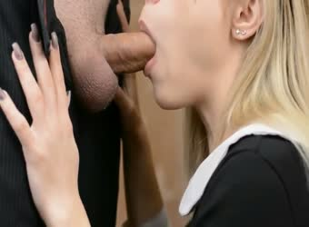 Prep school 18yo swallows cum in uniform