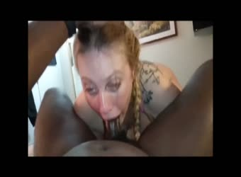 White psycho bitch keeps calling him daddy and cumming