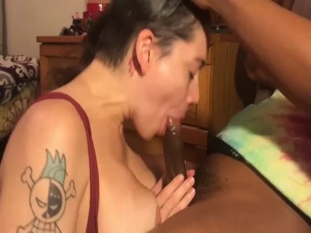 Ebony Bbw Swallowing Cum