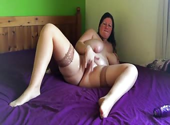 Solo selfie home alone trying out her new ten inch dildo