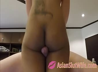 Asian Teen Thighjob and Creampie - Thigh Gap Fucking