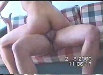 Amateur milf fucks young guy