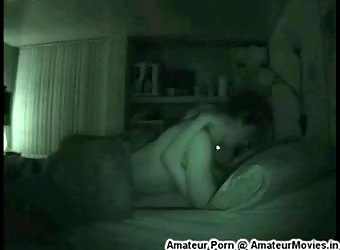 Steamy homemade college sex captured on nightvision cam