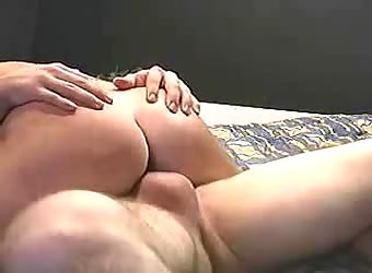 Slamming his cock from the top