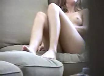 Sister masturbating to porn caught by brother