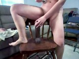 Mom riding big black dildo