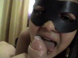 Hooker taped only with mask on
