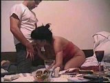 Two scenes from horny home couple doing it all