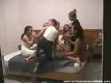 Lesbian college sorrority orgy party spied on (part 1 of 2)