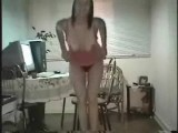Young housewife banged on tape