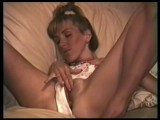 Mature wife stroking her clit while hubby tapes