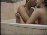 Asian teens bathtub foreplay and fucking