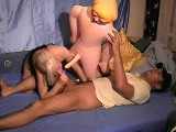 Kinky couples having a 3some with inflatable male doll