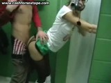 Public bathroom amateur porn video