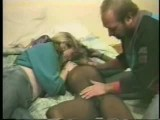 Hubby and wife share a black hooker
