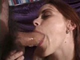 Gagging sloppy deepthroat