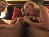 Swinger wives interracial black bull threesome