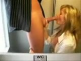 Hot polish girl plays and blows on public train