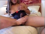 Amateur shemale makes her first video