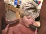 Black threesome with mature wife