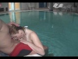 Poolside swingers fuck