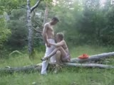 Homemade quick outdoor sex with mouth cumshot