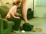 Straight A teen student gives him great blowjob