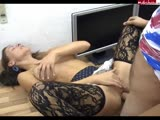 German girl gets office anal