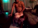 Chubby redhead loves getting fucked from behind by black