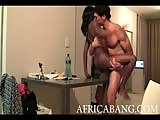 Horny bitch from Africa in her first porn video