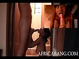 Petite African hooker fucks a big cock in this amateur video