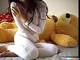 Lucky teddybear gets to fuck hot teen
