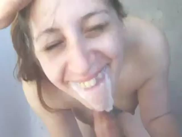 Cum out of mouth