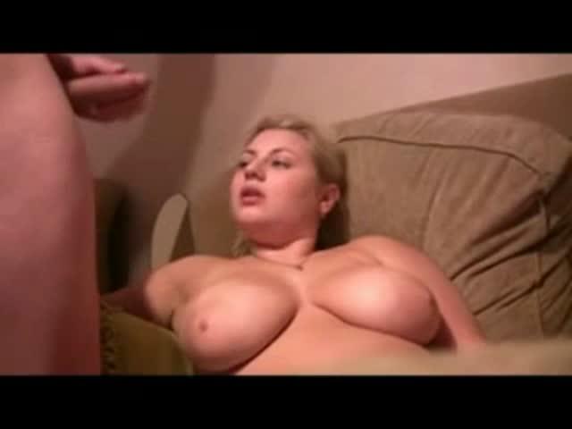 big cum natural tit shot