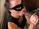 Masked cuckold with black bull 1