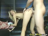 Title: Horny blonde sex freak anal and facial on cam