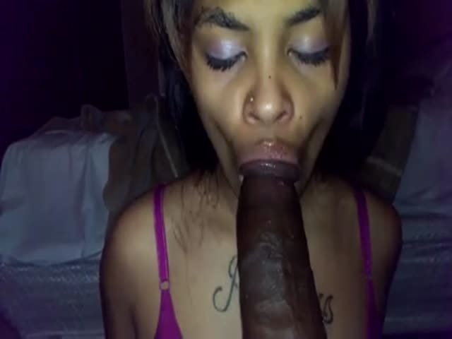 Ebony Juicy Lips Blowjob