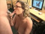 Wife Gets Turned On By Huge Cock And Sucks Off Hubby