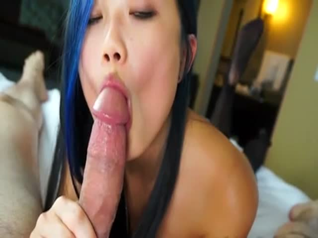 Asian Teen Learning Blowjob