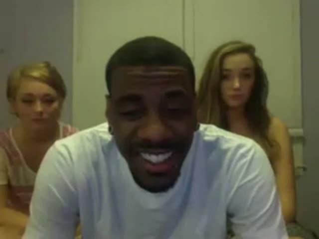 Three Black Girls White Guy