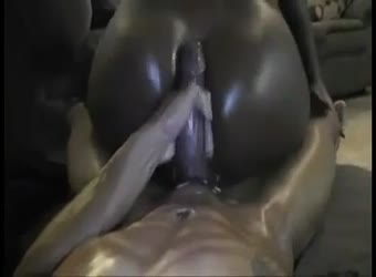 Awesome phat black ass rides bbc til he cums